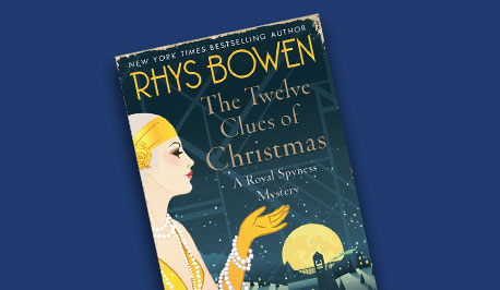 book cover, the Twelve Clues of Christmas by Rhys Bowen