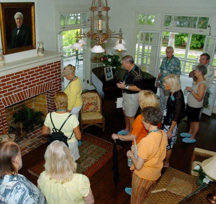 Group touring the Edison and Ford Estates