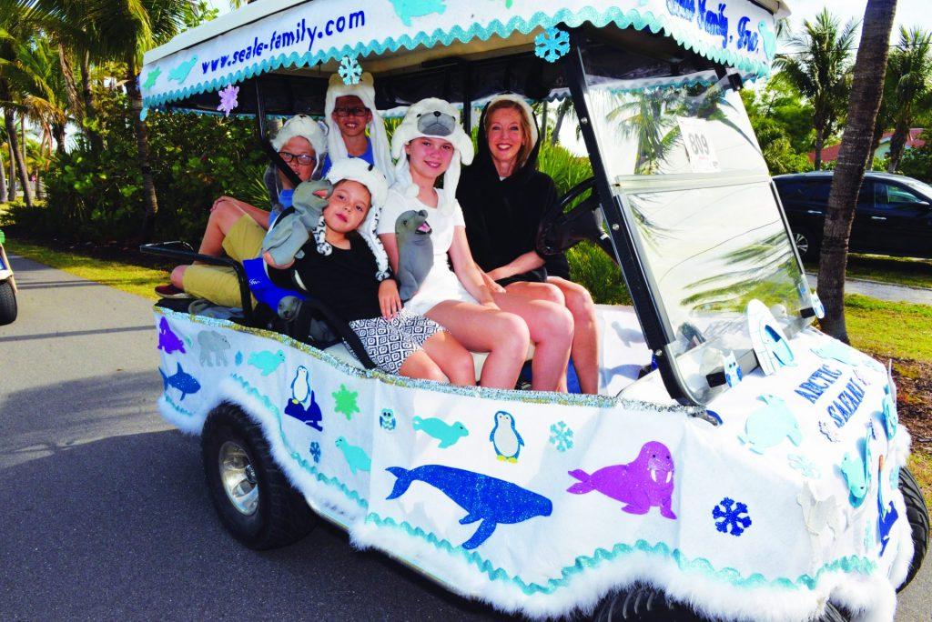 Seale Family golf cart float