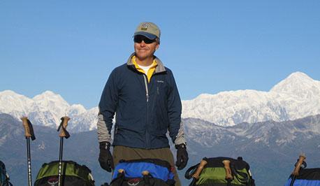 Tom Cross hiking Denali National Park