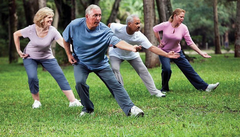 senior adults practicing Tai Chi