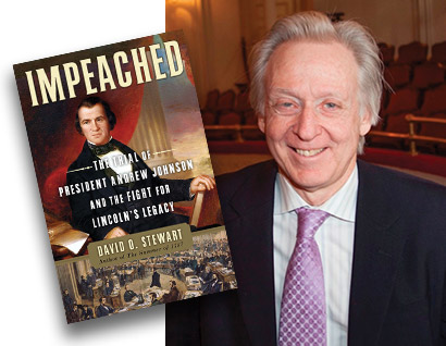Impeached: The Trial of President Andrew Johnson and the Fight for Lincoln's Legacy -Book Cover - David O Steward