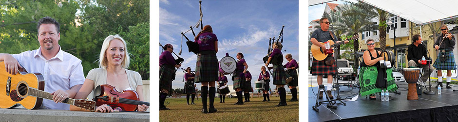 Three Photos of Irish and Celtic Performers