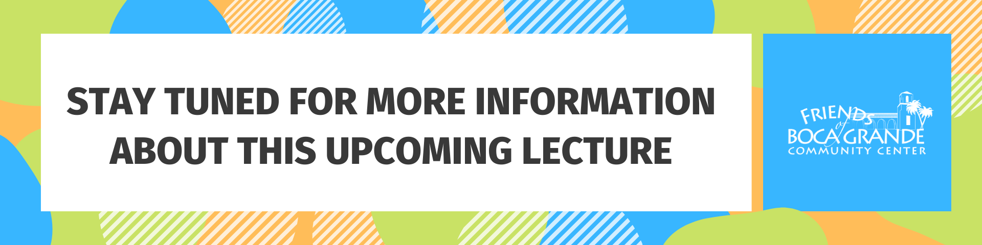 Stay tuned for more information about this upcoming lecture.
